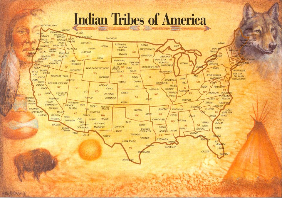 Indian Tribes Of America And Their Territory Obsessed With Maps - Indian nation map us