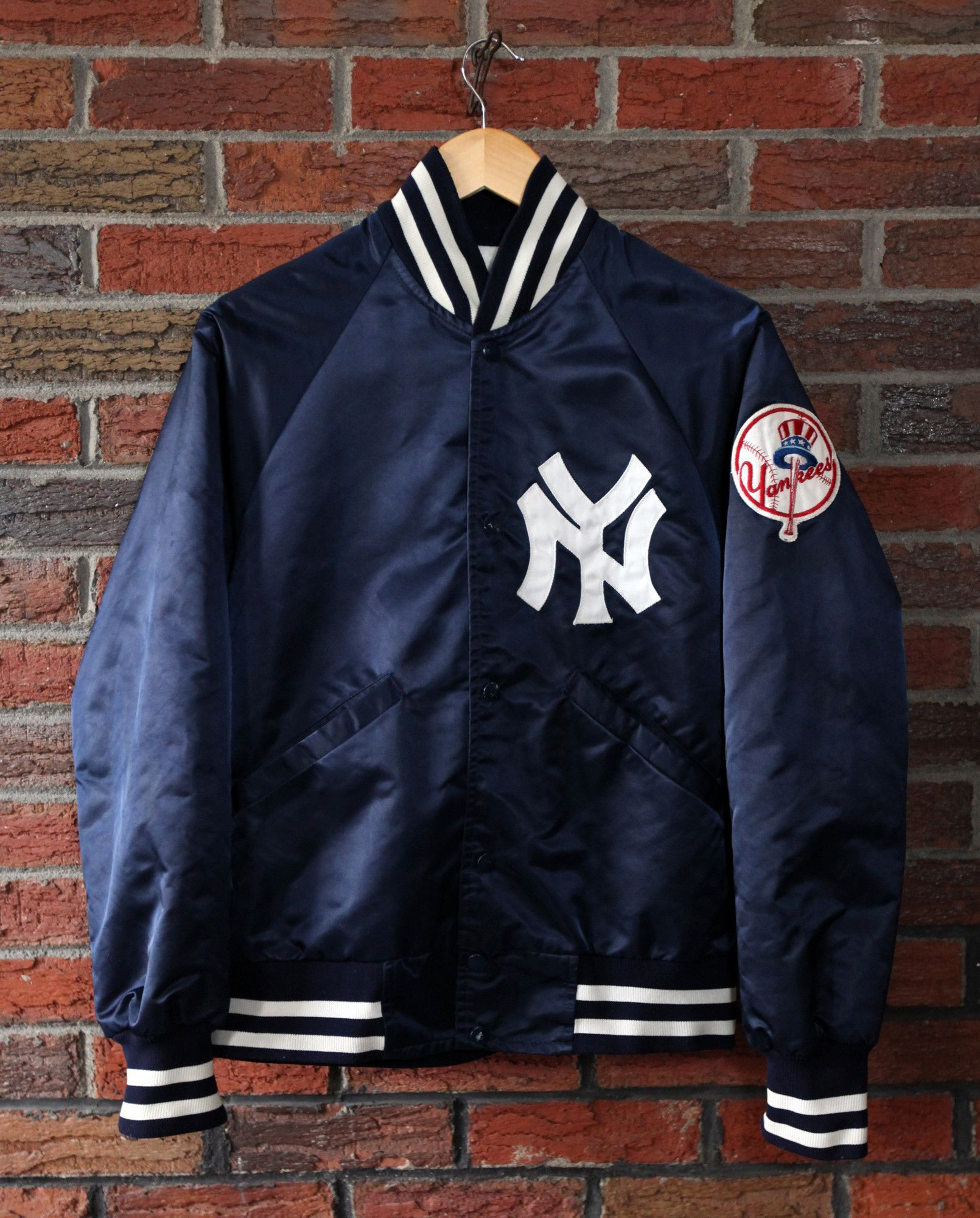 9b6bb982 Vintage 70's / 80's New York Yankees Starter Satin Jacket SZ S ...