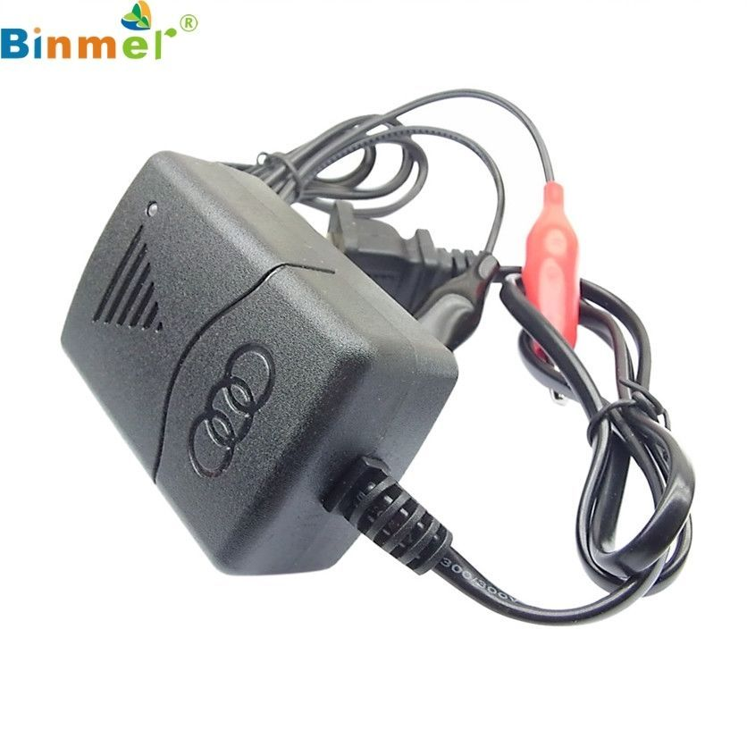 Compact Car Battery Charger With Led Light Indicator 12V