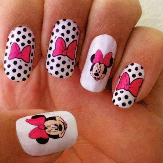 Minnie mouse nail art nail love pinterest minnie mouse nail minnie mouse nail art prinsesfo Image collections