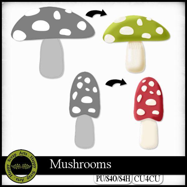 Mushrooms templates CU4CU