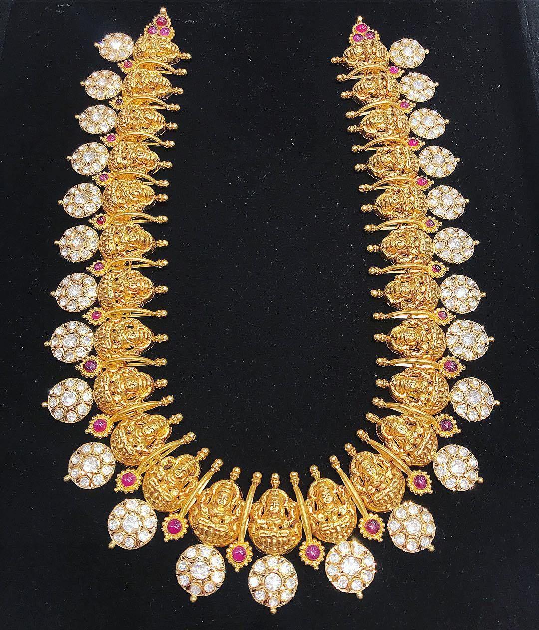 breathtaking heavy diamond necklace set designs nandini