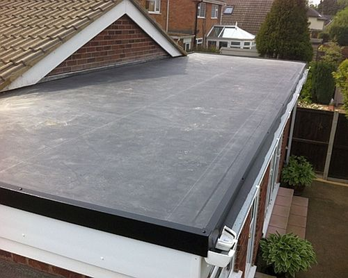 Rubber Roofing Excellent Choice Of Material For A Flat Roof Flat Roof Repair Flat Roof Materials Epdm Roofing