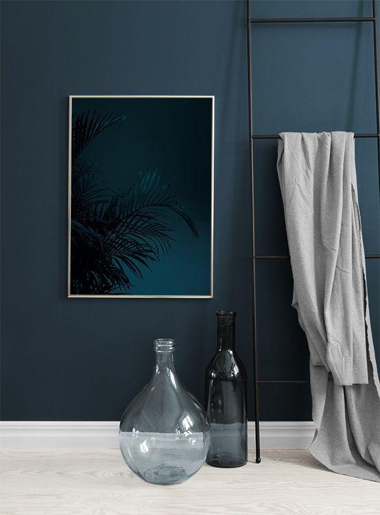 Black Palm, Poster (mit Bildern) | Blaues wohnzimmer ...