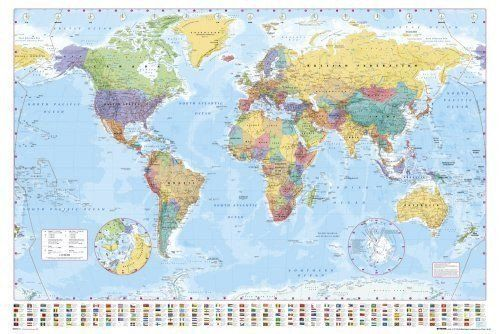 World map poster modern current earth globe print wall art large world map poster modern current earth globe print wall art large maxi gumiabroncs Gallery