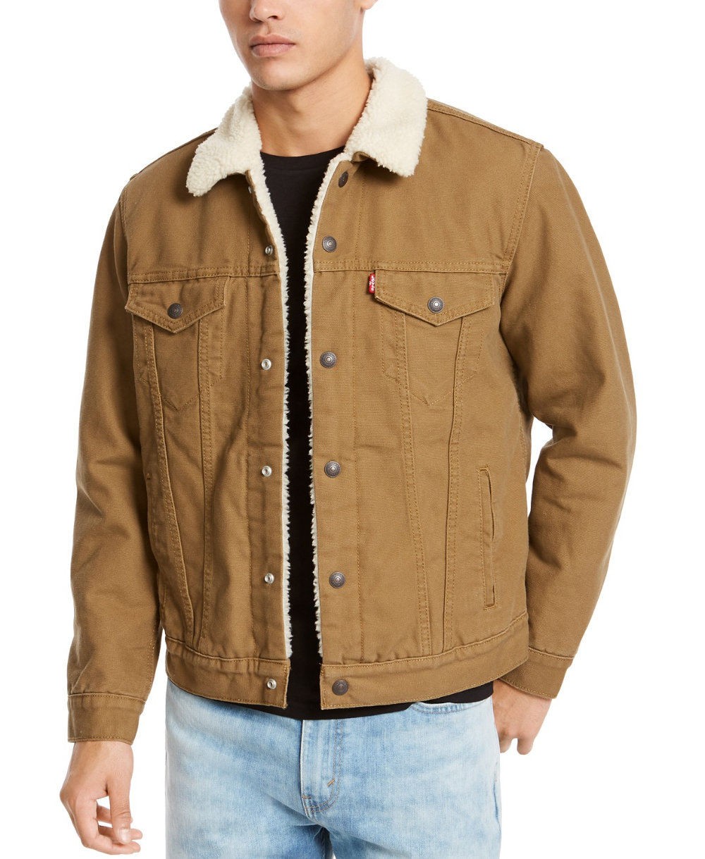 Levi's Men's Sherpa Canvas Trucker Jacket & Reviews