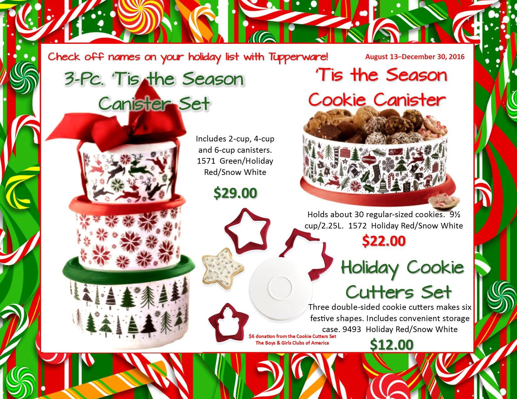 christmas is right around the corner! These awesome #canisters make ...