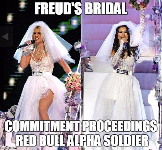 7a1e3147e3a416260f8777998500b342 freud's bridal commitment proceedings red bull alpha soldier,Meme Bridal