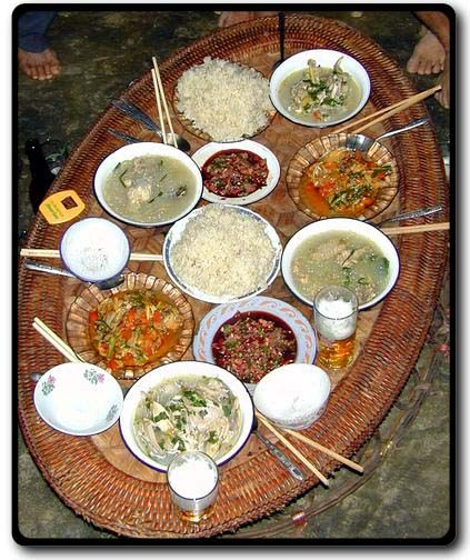 Hmong Wedding Food: I Remember Lunches At The Temple Being Served Like This