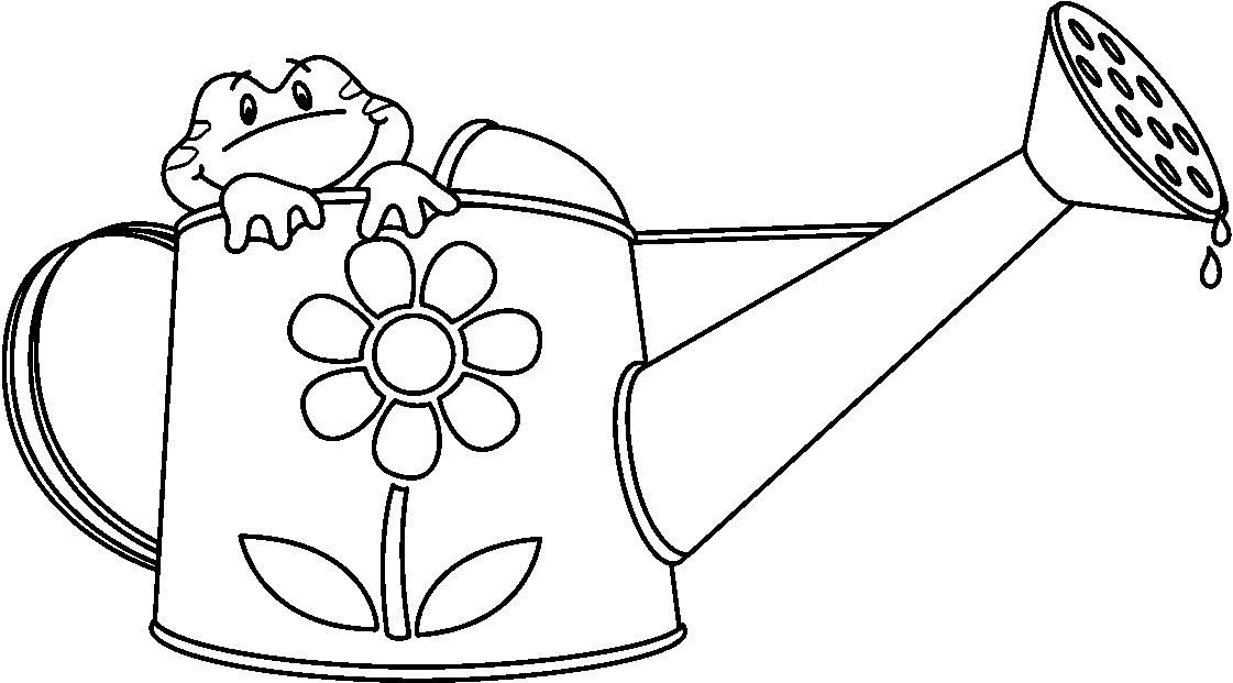 Frog Watering Can Dog Coloring Page Coloring Pages Coloring Sheets For Kids