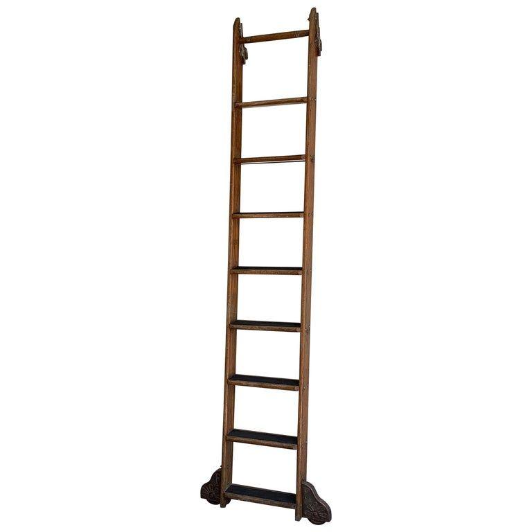 Industrial Rolling Oak Library Ladder By Putnam Library Ladder Ladder Putnam