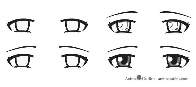 How To Draw Anime Eyes And Eye Expressions Tutorial Animeoutline Eye Drawing How To Draw Anime Eyes Anime Eyes