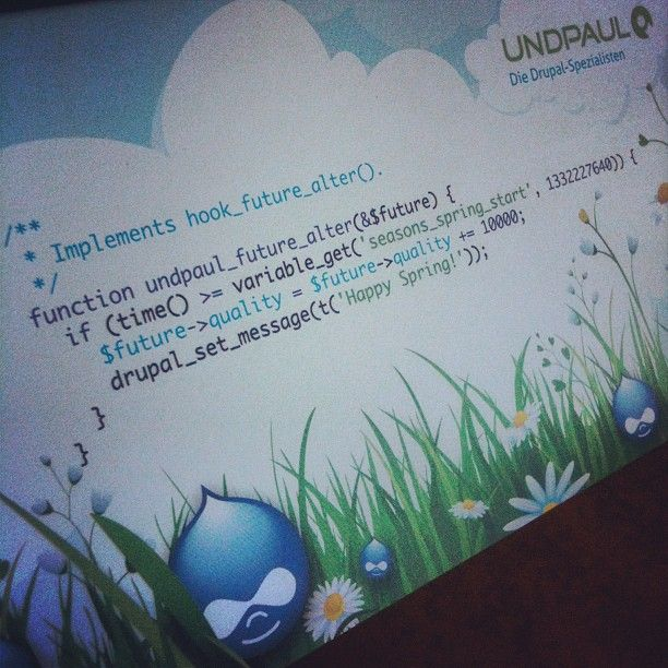 """What a cool greeting card we got from our friends at @undpaul Thanks! #drupal"""