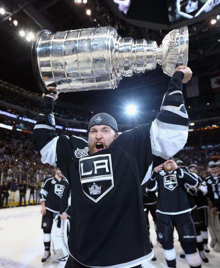 The Cup Held High On The Ice La Kings Hockey La Kings Kings Hockey