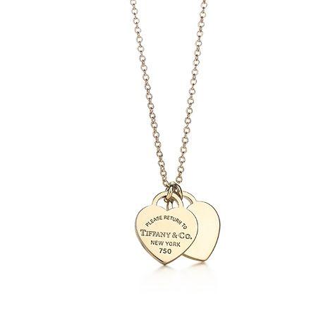 Return to Tiffany mini double heart tag pendant in 18k gold Tiffany & Co. 7e5D2l7Vh