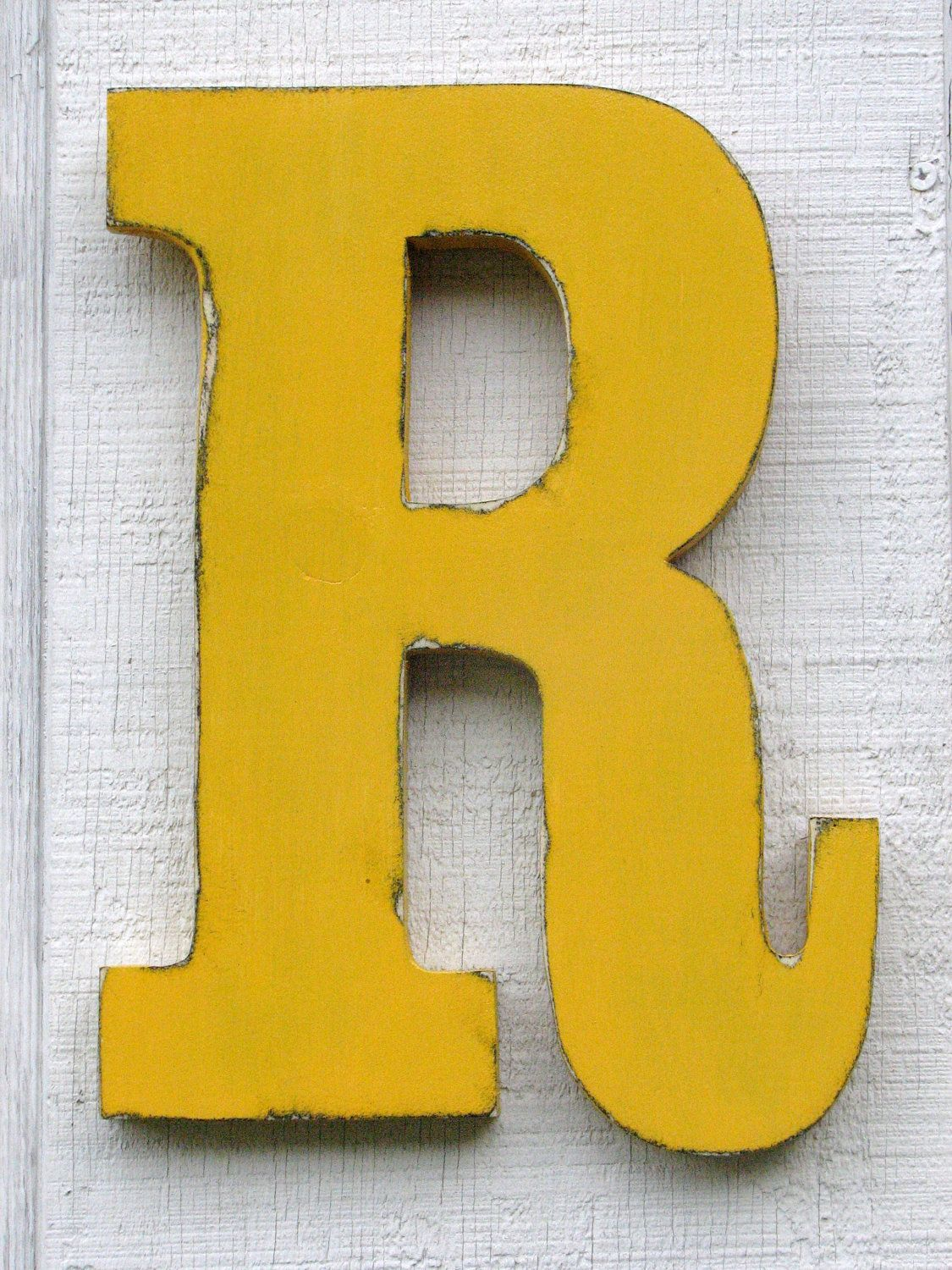 Distressed Kids Room wall letters shabby chic letter R big wooden ...