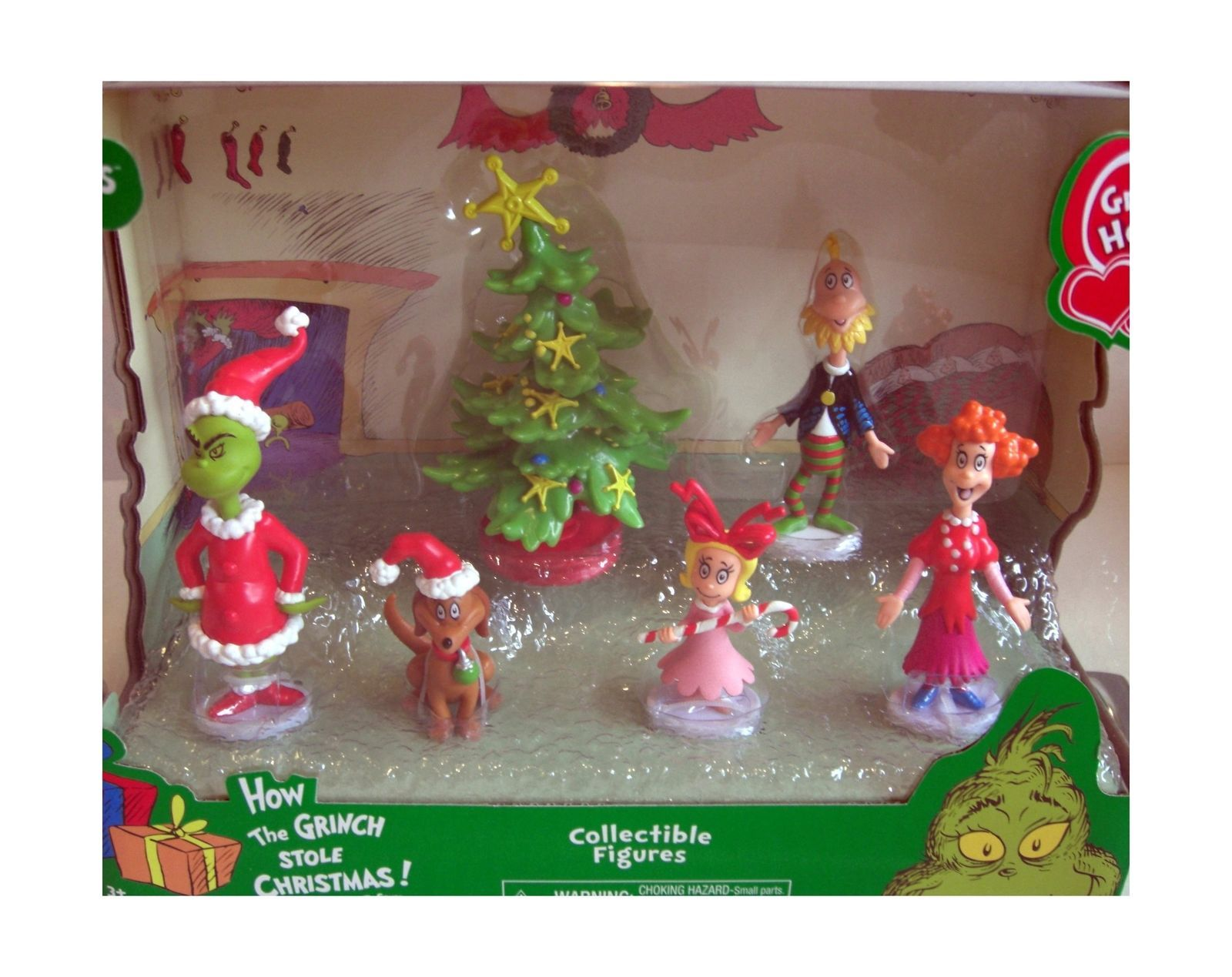 Just Play Dr Seuss Grinch Holiday Figures Set  New