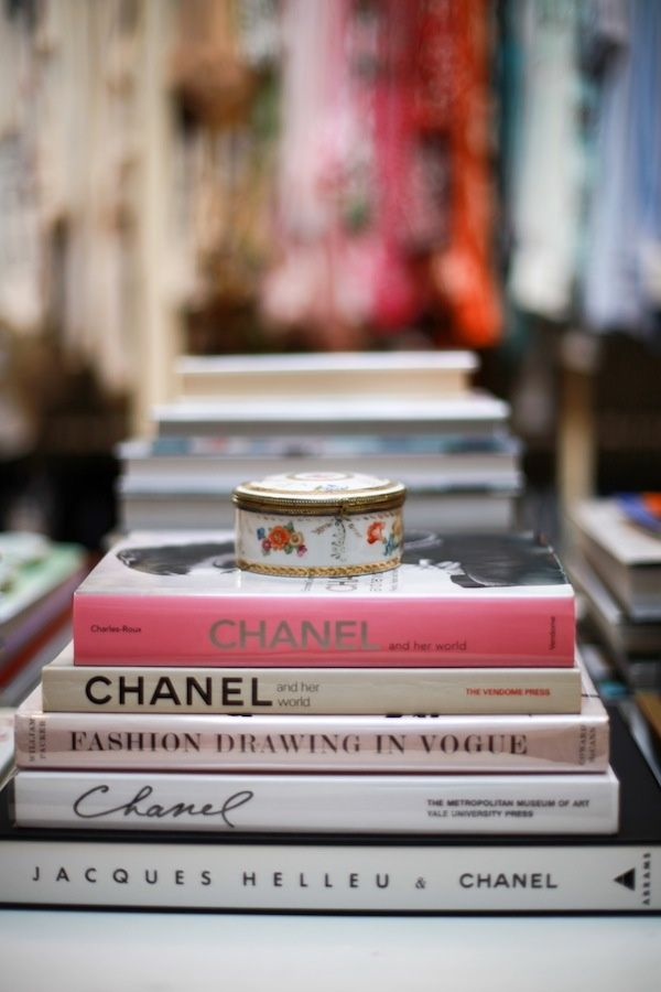 Love Fashion And Interior Design Books On A Coffee Table
