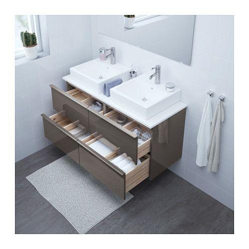 GODMORGON/TOLKEN / TÖRNVIKEN Mobile/lavabo 45x45/piano di lavoro ...