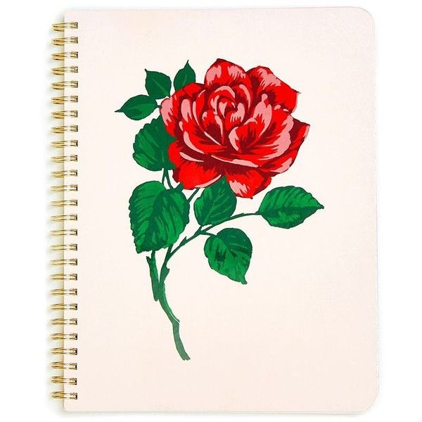 7ece95eb7bf ban.do Will You Accept This Rose Spiral Notebook ( 12) ❤ liked on ...