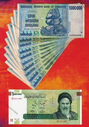 Zimbabwe Dollars Banknotes Currency