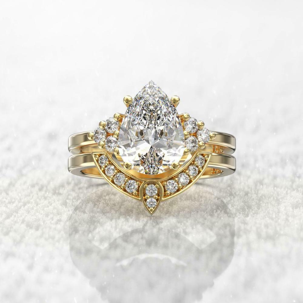 2.80Ct Emerald Cut Aquamarine Solitaire Engagement Ring 14K White Gold Finish