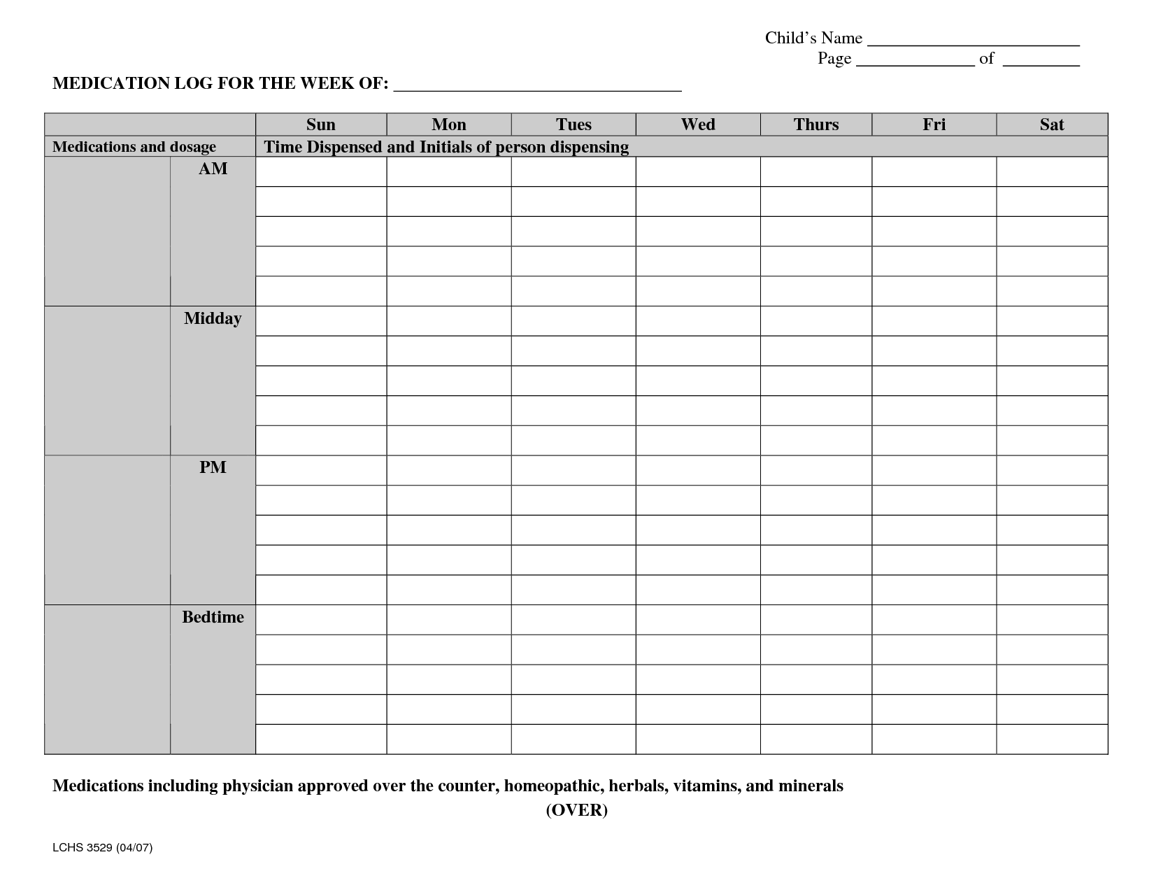 It's just a graphic of Free Printable Medication Log regarding refrigerator temperature