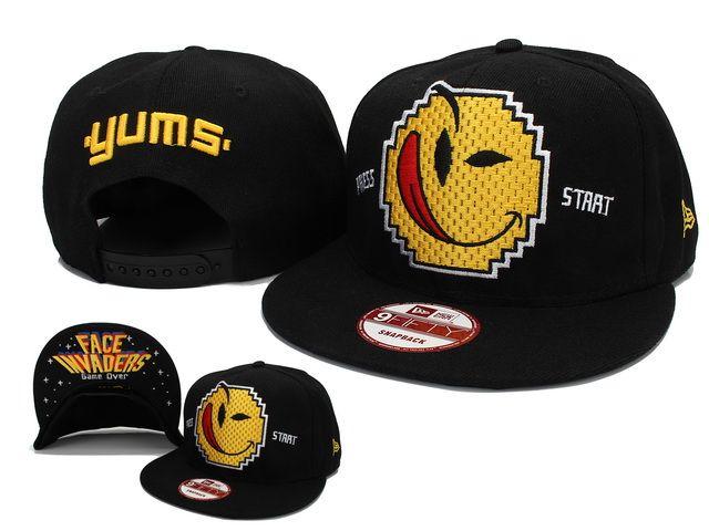 d3e9168e25844 Yums Baseball CapsFIFTY Snapback Hats Caps Black 0647