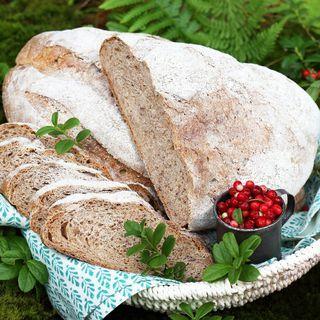 Lingonbröd med rågmjöl