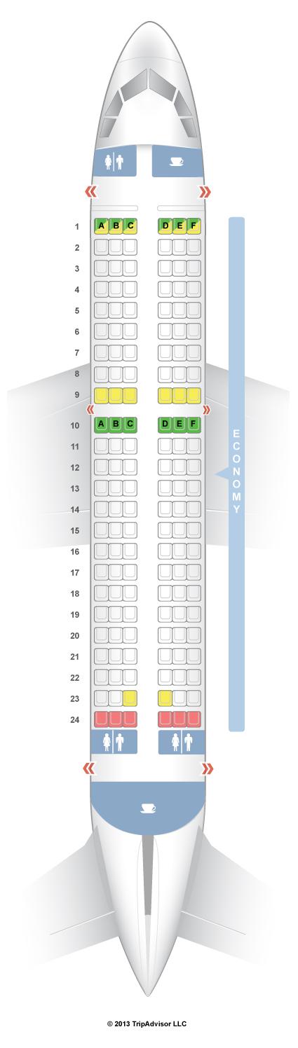 SeatGuru Seat Map Aer Lingus Airbus A319 (319) Travel