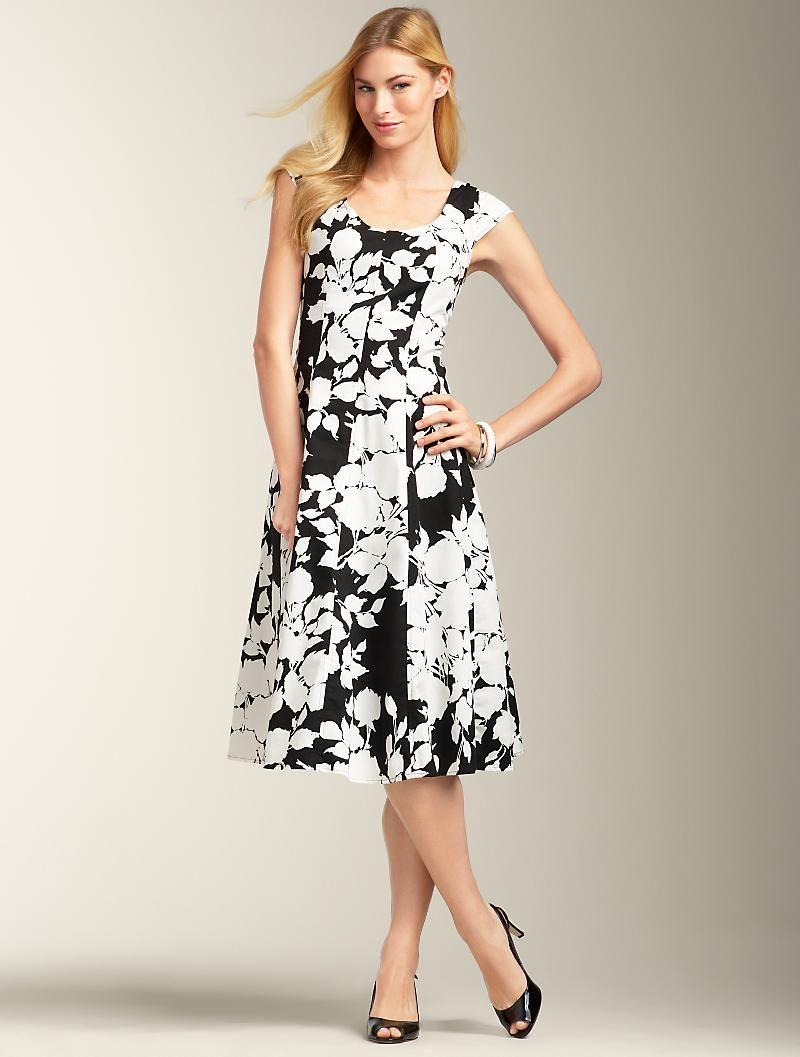 Perfect Black And White Sundress Best Summer Dresses Miss Dress Talbots Dress [ 1057 x 800 Pixel ]
