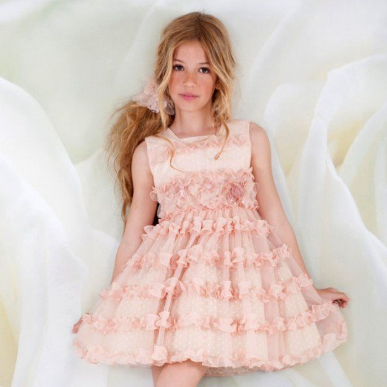 Flower girl dress. Vestido ceremonia niña. | Cap-Ras. Vestidos de ...