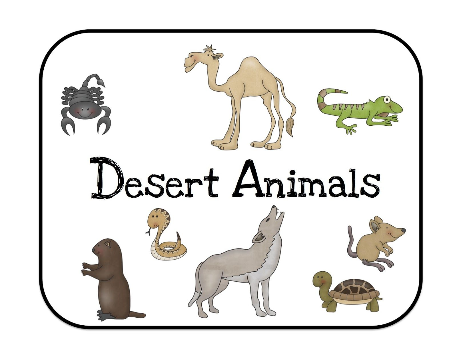 Africa Desert Preschool Worksheet