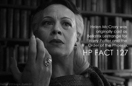 Helen Mccrory Was Originally Cast As Bellatrix Lestrange For Harry Potter And The Order Of The Harry Potter Universal Harry Potter Obsession Harry Potter Love