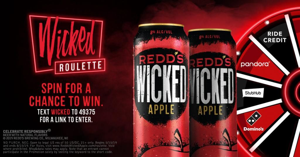 Redd's Wicked Roulette Instant Win Game in 2019