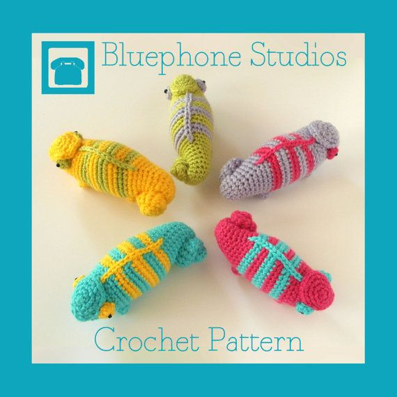 A Pattern For Little Crochet Chameleons But You Can Commission One