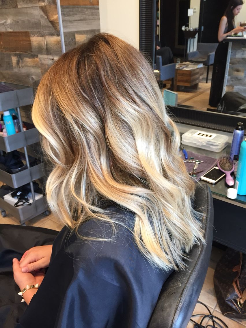 medium length blonde balayage - samantha cusick: | hair, make up
