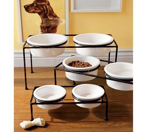 Paw Print Pet Food Bowl Amp Stand Dog Bowl Stand Dog Bowls Elevated Dog Bowls
