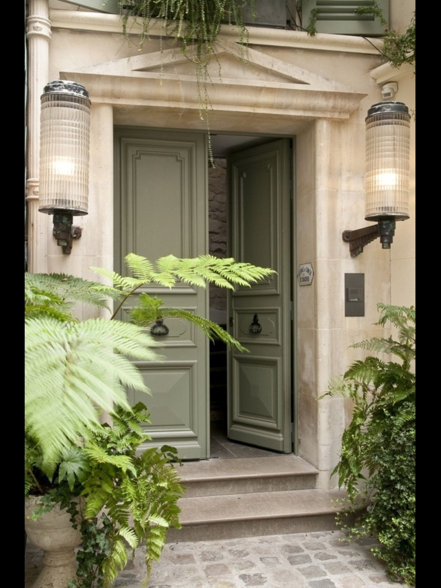 lovely gray green on front door curb appeal pinterest. Black Bedroom Furniture Sets. Home Design Ideas