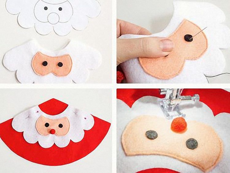 Populaire Tutoriel DIY: Créer un père Noël en feutrine via DaWanda.com  HV68