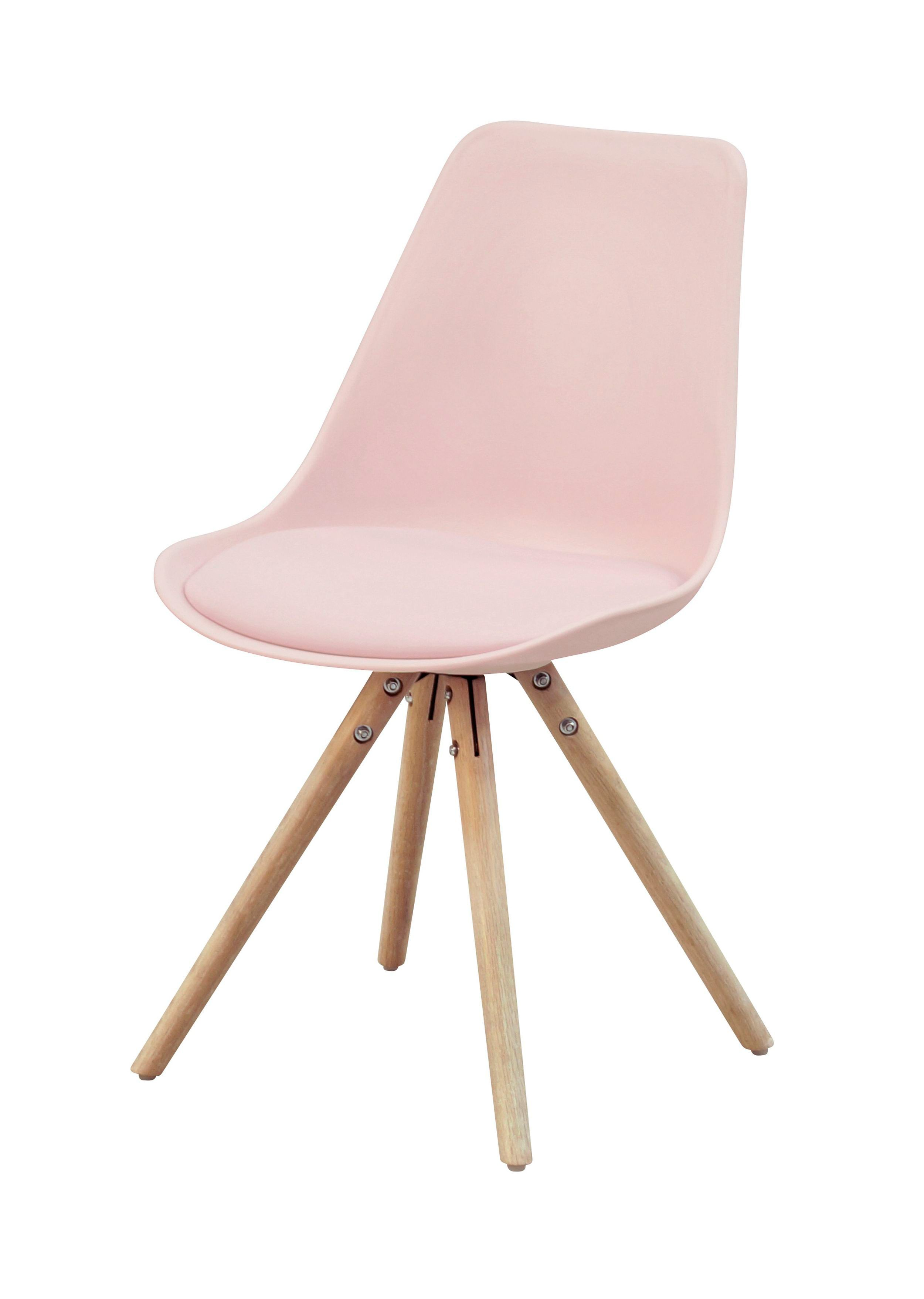 Chaise OSLO rose design scandinave BUT