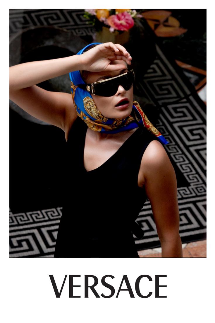 cb8008adee2 Versace - VE2197 Black Gold - Gray sunglasses
