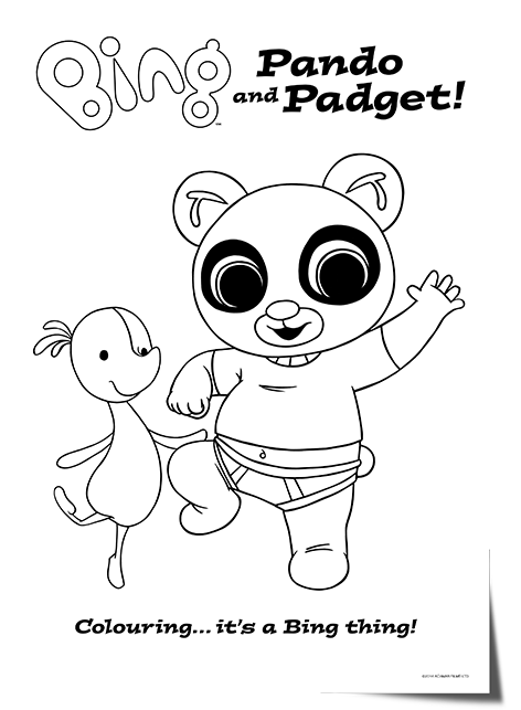 Bing Lineart Pando Padget Tiny Pop Bing Bunny Bing
