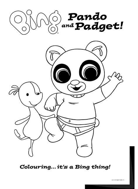 Bing Lineart Pando Padget