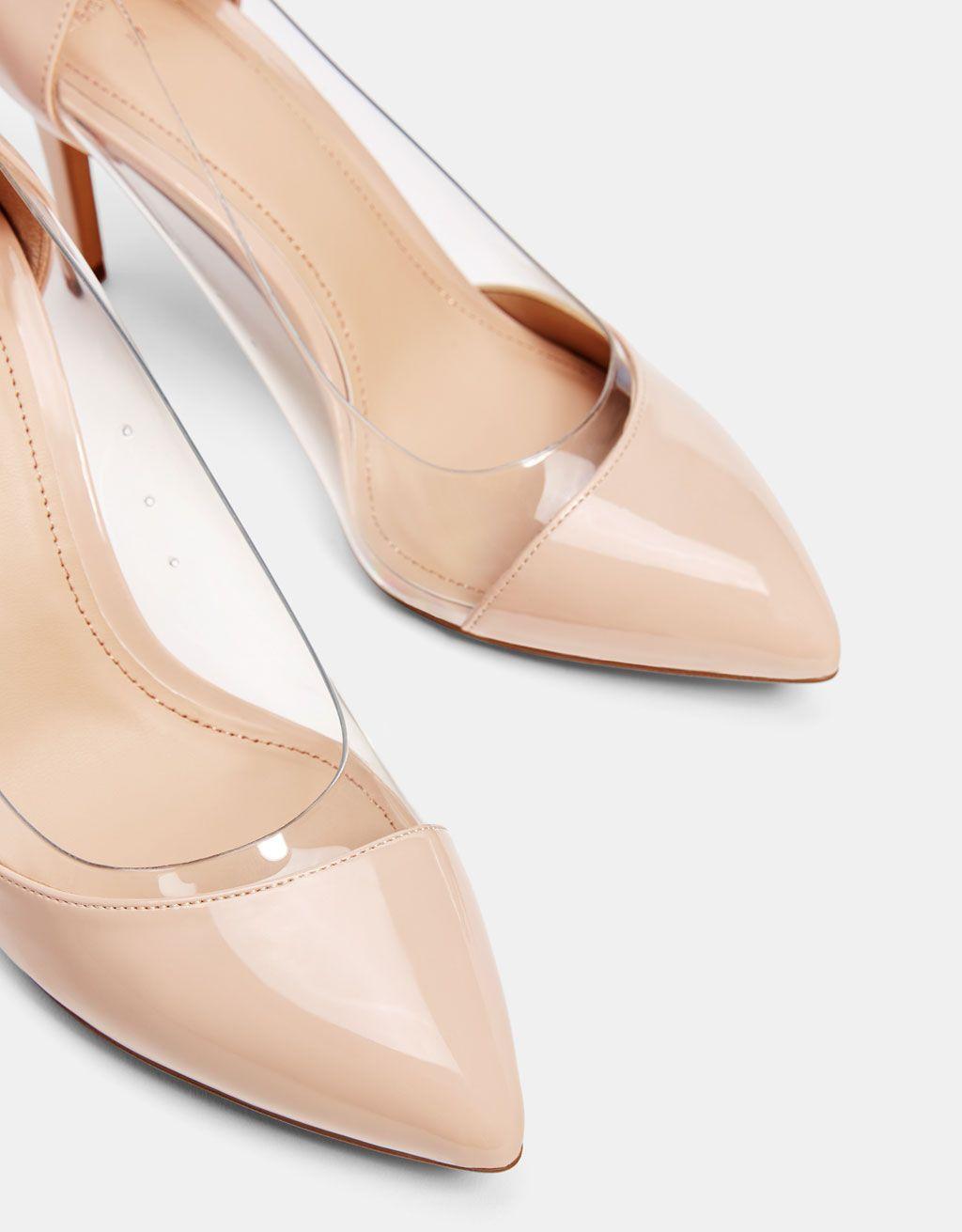 Vinyl Block Heel Mules Heels Shoes Heeled Mules