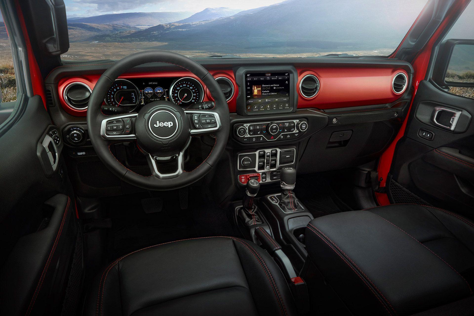 2020 Jeep Gladiator Pickup Truck Jeep Wrangler Rubicon Jeep Wrangler Interior Jeep Interiors