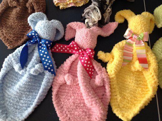 Baby Bunny Blanket Buddy Lovie Knitting Project By Janice K