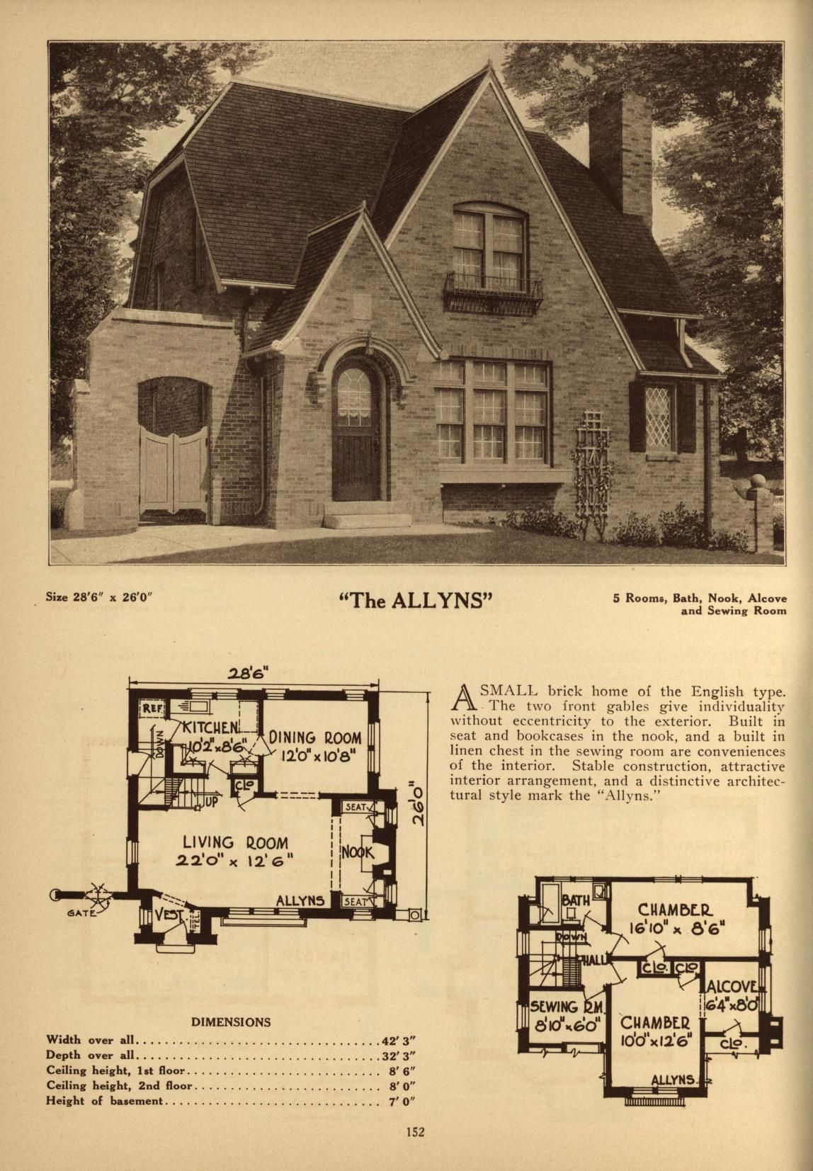 Deyo S Book Of Homes Vintage House Plans Tudor Style Homes Mountain House Plans