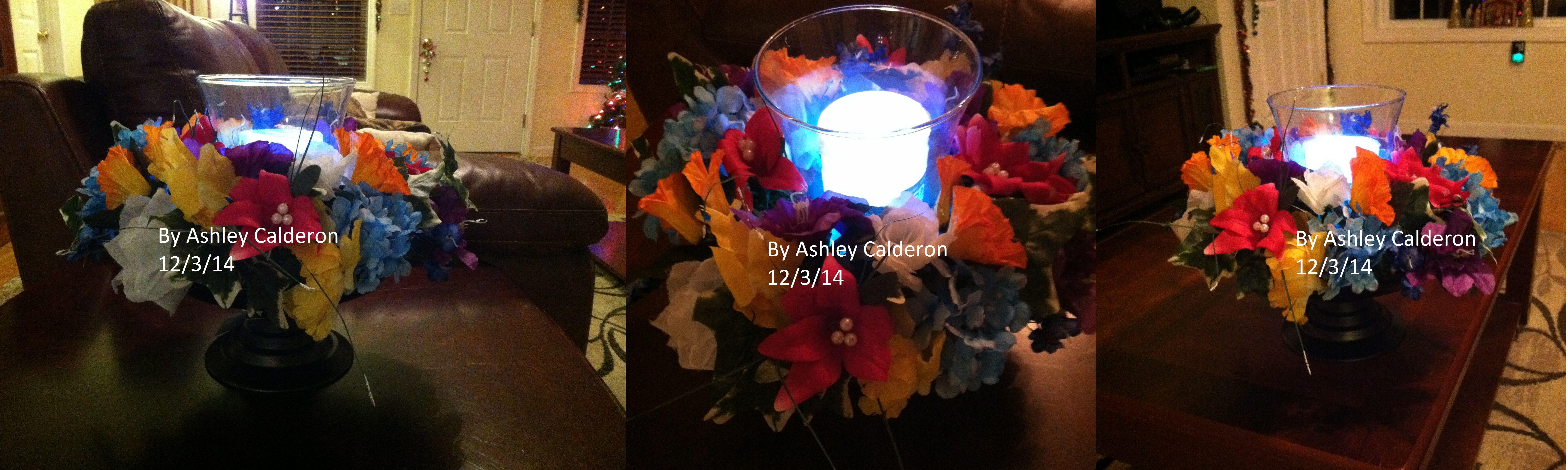 My Wedding Centerpieces Tropical Garden Theme 1 Tealight Candles