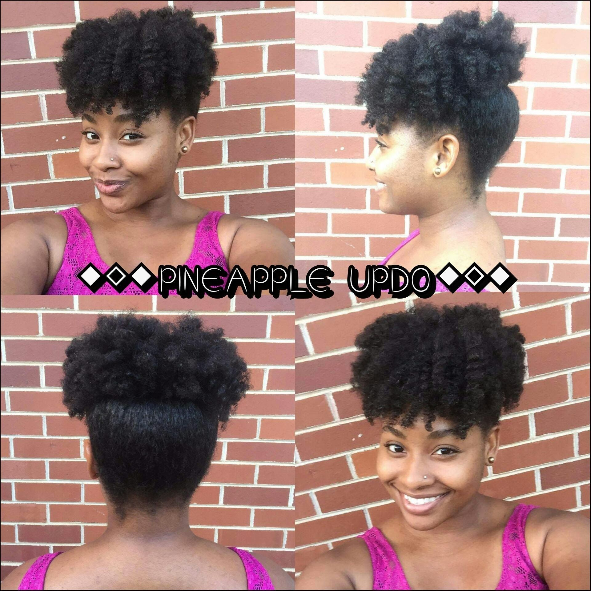 Quick Easy Natural Hairstyles Pineapple Puff Updo 4c Hair As